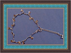 18KRP Moon/Star Design Anklet