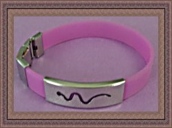 Purple Silicone Snake Design Bracelet Biker Chic Punk Rock Style