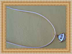 Handmade Gold Tone & White Saturn Design Necklace With White Rope Chain