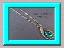 18KRP December Birthstone Color Crystal & Clear Crystal Necklace