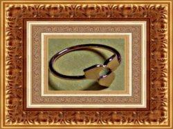 Gold Tone Simple Flower Design Ring Size 6.5 Unique Piece