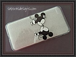 Baby Minnie & Mickey Mouse Kiss Kiss Disney Design Iphone 8 Plus Silicone Case