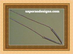 Gold Tone Letter V Design Necklace