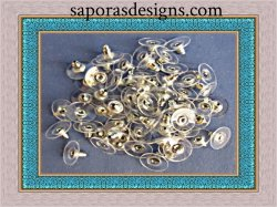 White Gold Plated Back Stopper For Earrings 50 Pieces