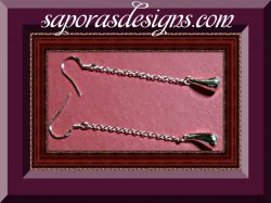 925 Sterling Silver Dangle Tear Drop Design Earrings Classy Style