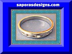 18KRP Wedding Band Ring Unisex Size 9.5