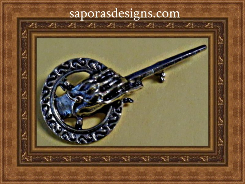 Image 0 of Antique Design Game Of Thrones Hand Of The King Design Brooch