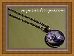 Alice In Wonderland Cheshire The Cat Antique Design Necklace Unisex