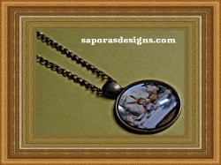 Antique Alice In Wonderland Design Necklace Unisex