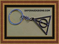 Antique Harry Potter Deathly Hallows Design KeyChain Unisex