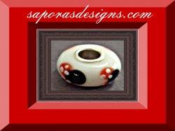 Minnie Mouse Disney Design Glass Charm For Bracelet
