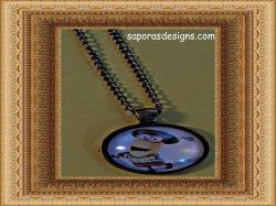 Antique Design Minion Golfing Necklace Unisex