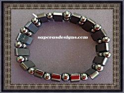 Hematite Powerful Magnetic Bracelet for Arthritis Pain Releif or for Sports Rela