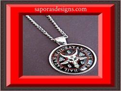 Silver Tone All Hail Satan 666 Goat Sign Design Necklace Unisex Biker Gothic