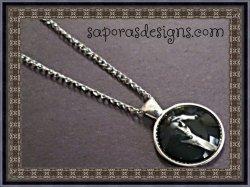 Silver Tone Elvis Design Necklace