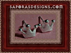 Silver Plated Crown Design Stud Earrings For That Little Princess In Your Life