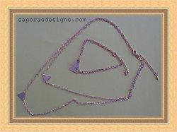 Gold Tone Pyramid Egyptian Design Necklace & Bracelet Jewelry Set