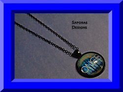 Black Tone Once Upon A Time Design Necklace Gothic Punk Rock Style