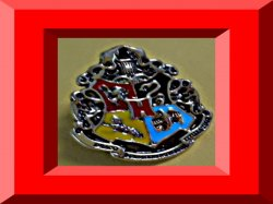 Antique Bronze Harry Potter Inspired Design Hogwarts Crest Tie Pin