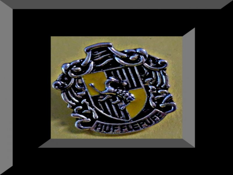 Image 0 of Vintage Silver Tone Harry Potter Hufflepuff Inspired Design Tie Pin For Men