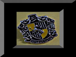 Vintage Silver Tone Harry Potter Hufflepuff Inspired Design Tie Pin For Men