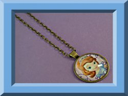 Princess Sofia The First Design Necklace Antique Bronze In Color For Girls