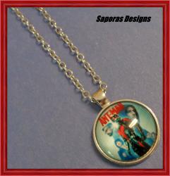 Silver Tone Ant-Man Design Necklace Unisex