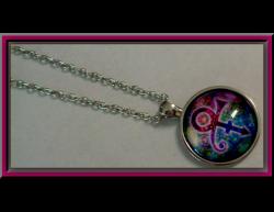 Colorful Prince RIP Memorial Love Symbol Design Necklace Unisex