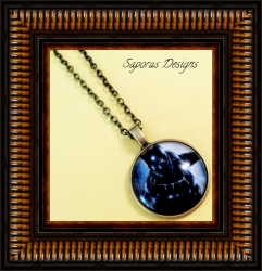Antique Black Panther Design Necklace Unisex
