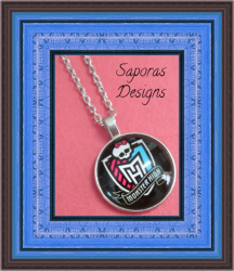Silver Tone Monster High Design Necklace For Girls