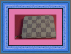 Louis Vuitton Zippy Coin Purse Damier Azur Canvas N63069