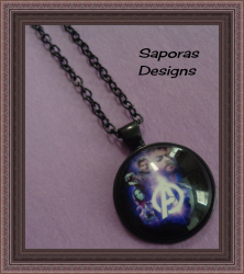 Black Tone Avengers Design Necklace Unisex