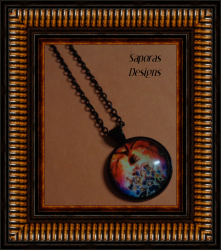 Black Tone Stranger Things Design Necklace Unisex