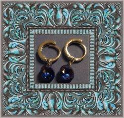 925 Sterling Silver Dangle Earrings With September Birthstone Crystal