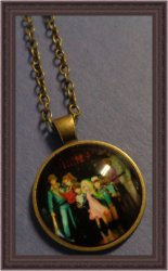 Antique Bronze Stranger Things Design Necklace Cartoon Style