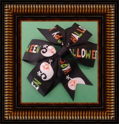 Handmade Halloween Hair Clip Bow For Girls With Ghost Designs