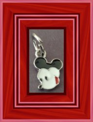 Tibetan Silver Mickey Mouse Charm For Necklace Bracelet Or Anklet