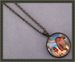 Black Tone Princess Moana/Maui Design Necklace For Girls