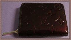 LOUIS VUITTON Vernis Zippy Coin Purse Wallet Amarante M93607