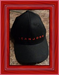 Black And Red Sean John Ajustable Cap Unisex