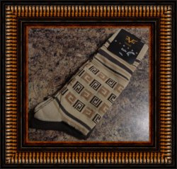 Versace Men's Dress Socks Two Pair Fits Shoe Size 9-12