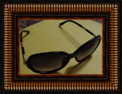 Louis Vuitton Black And Gold Tone Sunglasses For Women