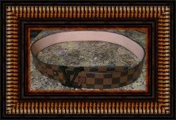 Louis Vuitton Belt Damier Ebene Canvas Unisex Size 42/105