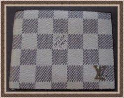 Louis Vuitton Damier Azur Canvas Bi-Fold Wallet For Men
