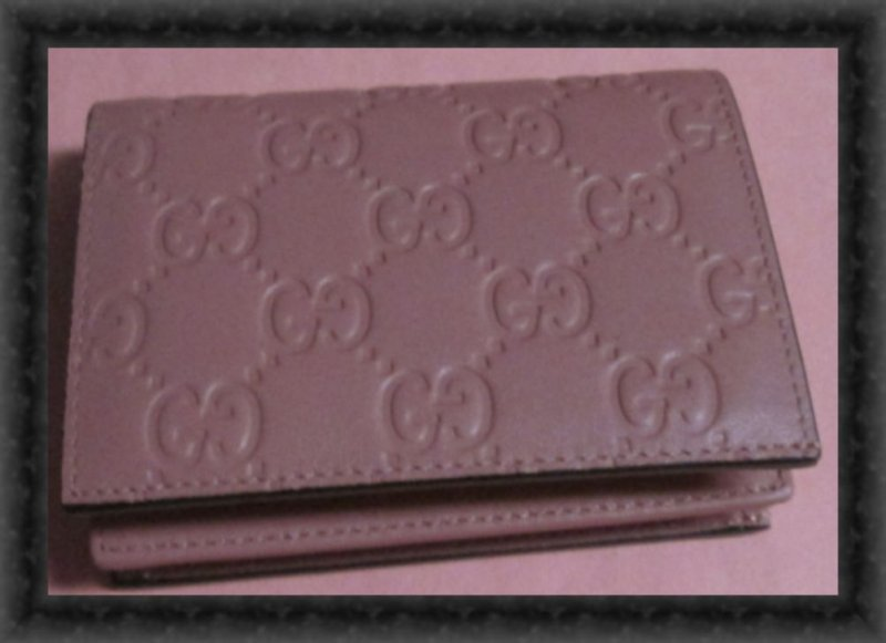 Image 0 of GUCCI 410120 Signature Leather Card Case