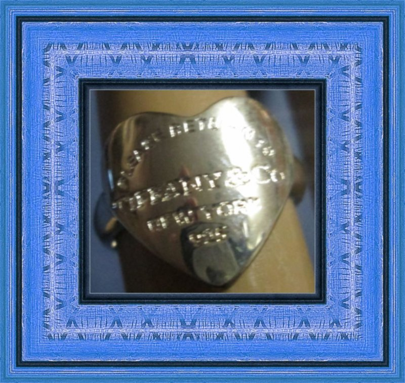 Image 0 of 925 Sterling Silver Tiffany & Co. Heart Design Ring Size 6
