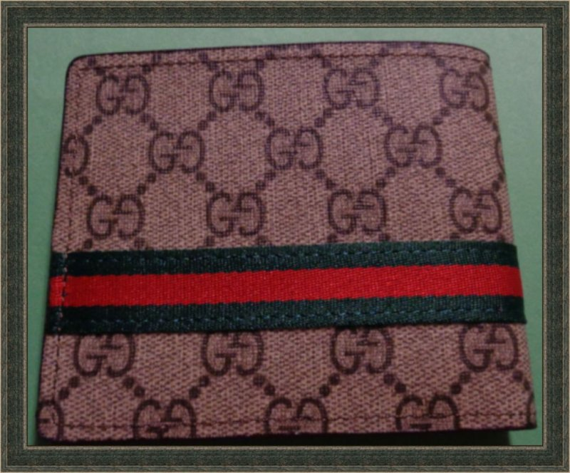 Image 1 of Gucci GG Logo Fabric Wallet For Men Bi-Fold