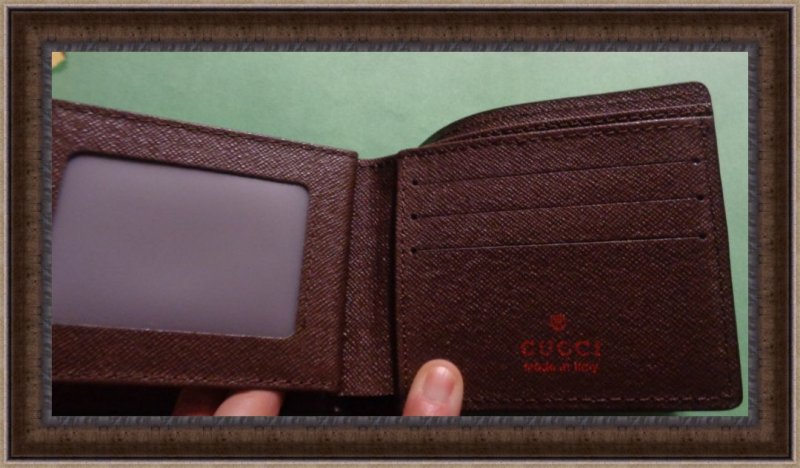 Image 2 of Gucci GG Logo Fabric Wallet For Men Bi-Fold