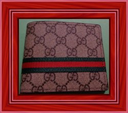 Gucci GG Logo Fabric Wallet For Men Bi-Fold