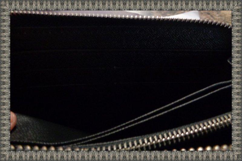 Image 3 of Louis Vuitton Monogram Black Zip Around Long Wallet For Women